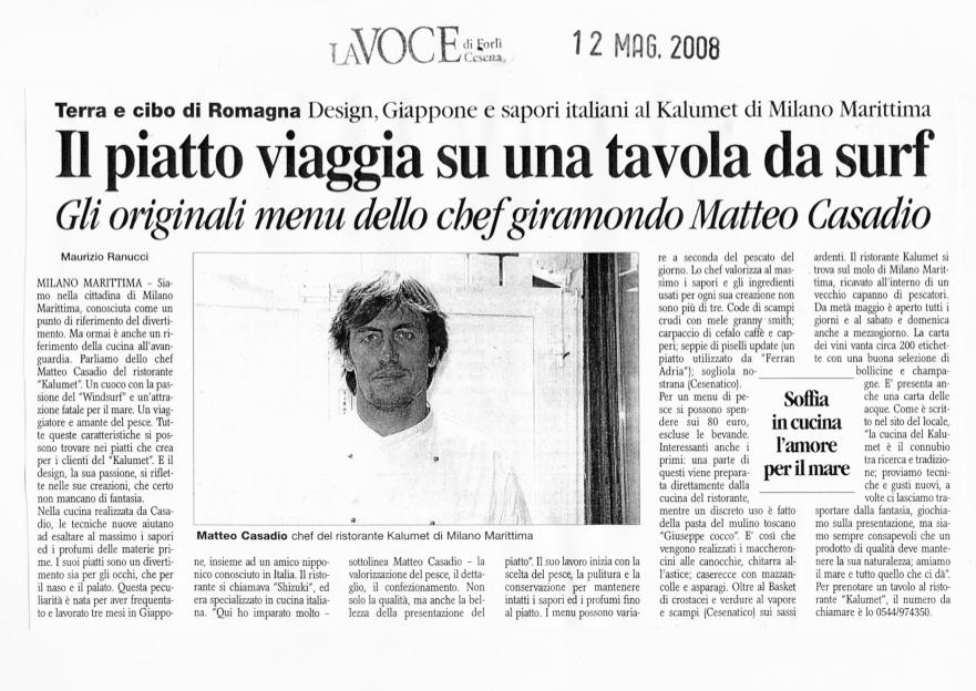 Articolo la voce maggio 2008
