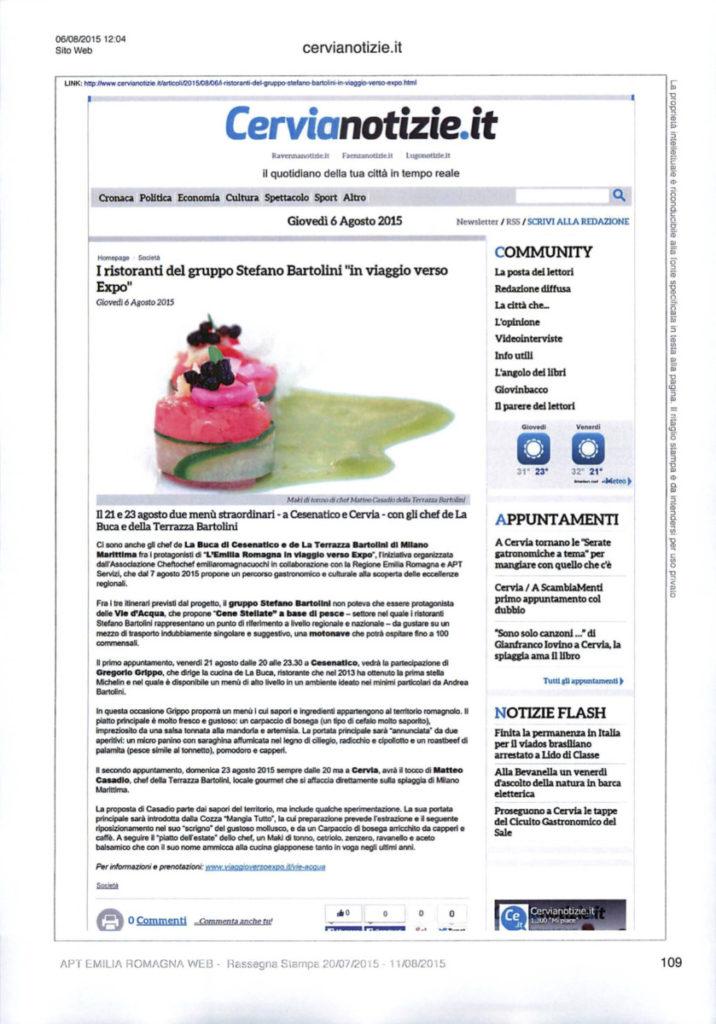 Articolo Cervia Notizie 6/8/2015