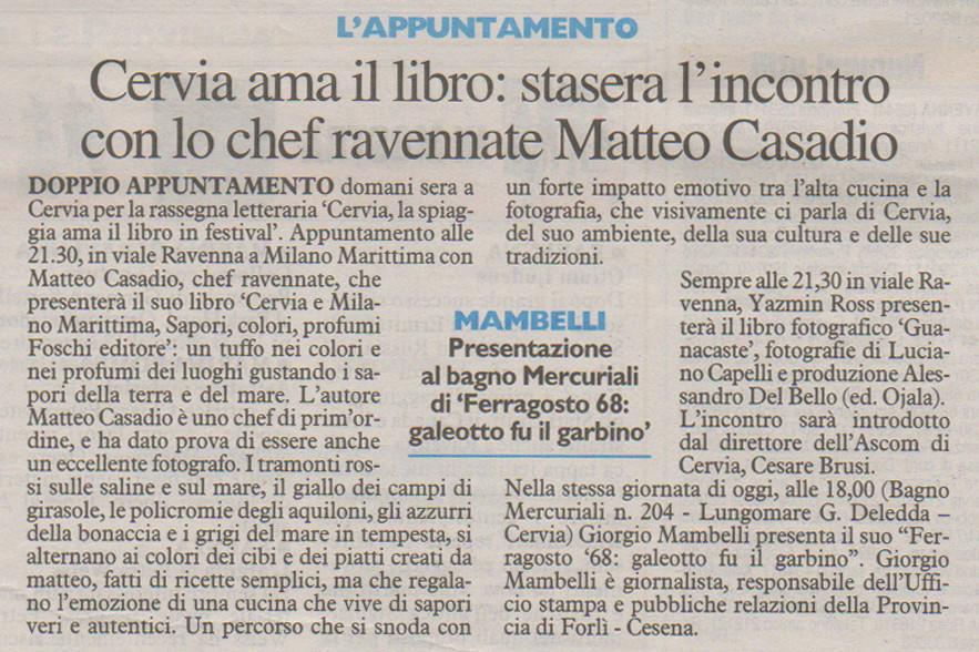 Articolo Corriere 2009 Cervia ama il libro
