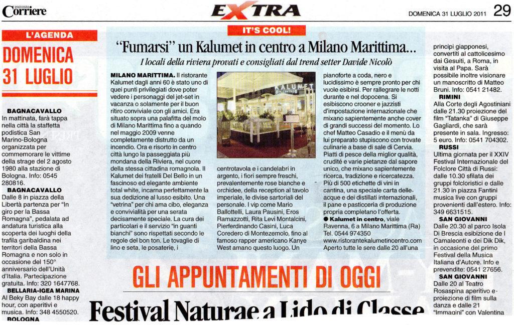 Articolo Corriere Romagna 2011