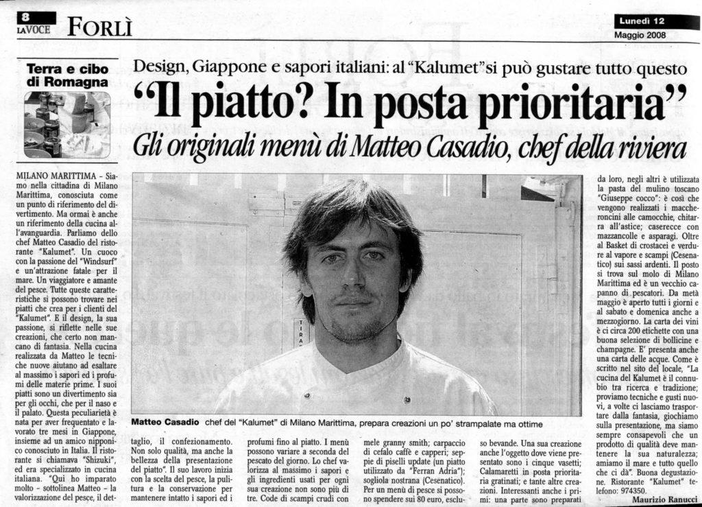 Articolo La voce Forli 2008